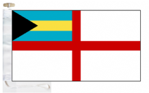 Bahamas Navy Ensign Courtesy Boat Flags (Roped and Toggled)